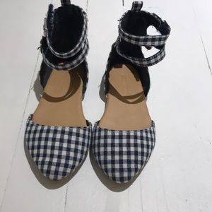 Old Navy TG Gingham Ankle Flat Shoes